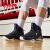 ヨルタスキー男子靴2019春新高帮球靴耐摩耗性スリップ防止通気性スニーカー男性网面Z黒/金458
