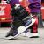 中国李寧ニューヨークファッションウィークショーと同じ重燃バスケットボール靴2019春新型男女同項高弁レジャー靴カップルネット面通気旅行靴-4標準黒/乳白色41(男性8)