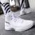 李寧のバスケットボールの靴夏の男子靴の韋徳の道7幻夜音速6中国悟道2ネットの空気を通して、衝撃を抑えて高い運動靴(音速3)の標準の白/銀色の42(内長265)