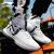 李寧バスケットボール靴夏季新品の李寧悟道2男靴非攻撃李寧雲ダンピング滑り止め止め止め止め止めカバー運動靴-4標準白/標準黒42(内長265)