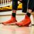 アンタバスケットボール靴男トンプソン4代KT 4高帮春新款运动靴11841101蛍光亮深紅大学赤アンタ白-5 9.5(男43)