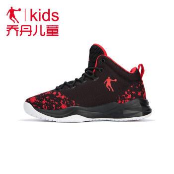 ヨルダン子供バスケットボールシューズ男子2019春夏の大童网面通気性のある靴学生運動靴黒/ヨルダン紅37は足長23.5 cmに適しています。