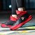 PEAKオフィシャル旗艦店(PEAK)バスケットボールシューズ男性高帮空気を通す革の運動靴の新型の衝撃を軽減して滑り止めの経典の基礎の靴の黒色/大紅の42
