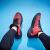 男子バスケットボールシューズ2018秋新品耐磨耗滑り止め快適高給男性バスケットボール靴男子運動靴大学赤42