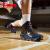 ヨルタンバスケットボールシューズ男性靴2018春純正品学生耐摩耗・減震・高手助け内外フィールドブーツ通気運動靴黒/写真青42