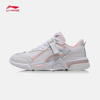 李寧バスケットボールの靴の女性靴2019新品女性バスケットボールのカジュアルシューズ街頭ファッションの女性靴の運動靴の標準は白/水晶の粉-6 39